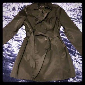 NWOT black express trench coat